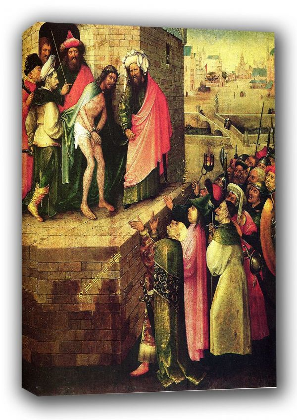 Bosch, Hieronymus: Ecce Homo (This is a Human).  Biblical/Religious/Christian Fine Art Canvas. Sizes: A3/A2/A1 (00862)